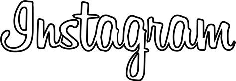 White Outline Font by Instagram Font Gallery
