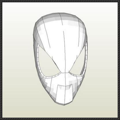 Iron Mask Papercraft - spider faceshell mask papercraft free
