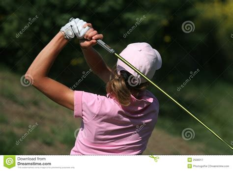 lady on swing lady golf swing royalty free stock photography image