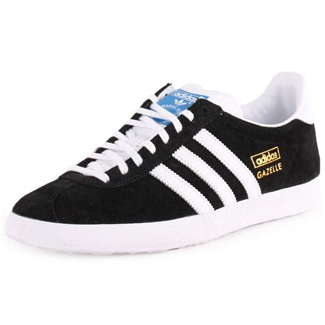 adidas gazelle og womens suede black white trainers new