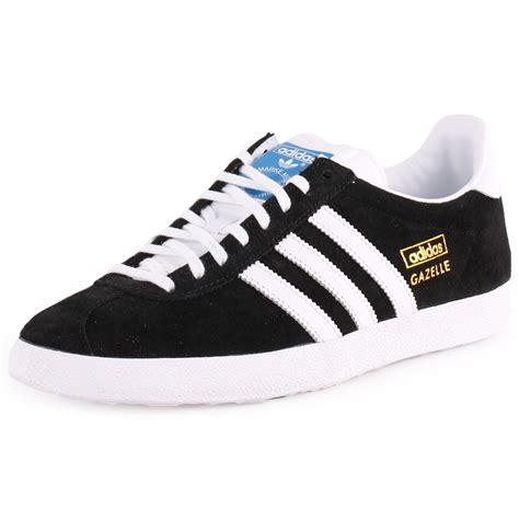 Adidas Gazele 5 adidas gazelle og womens suede black white trainers new shoes all sizes ebay