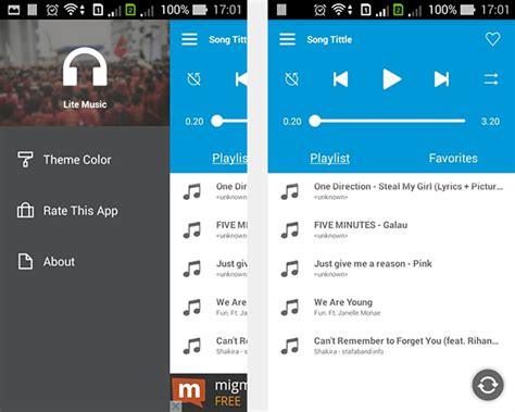 create a music player on android project setup