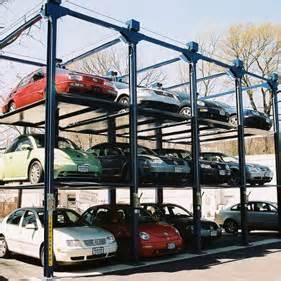 tri lift trilift car stacker auto rack storage car