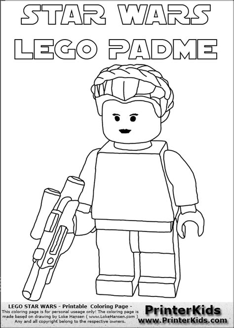 star wars queen amidala coloring page lego star wars padme amidala coloring page kids