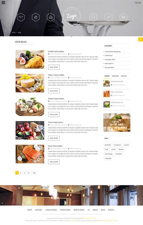 template joomla zaga zaga responsive onepage restaurant template by