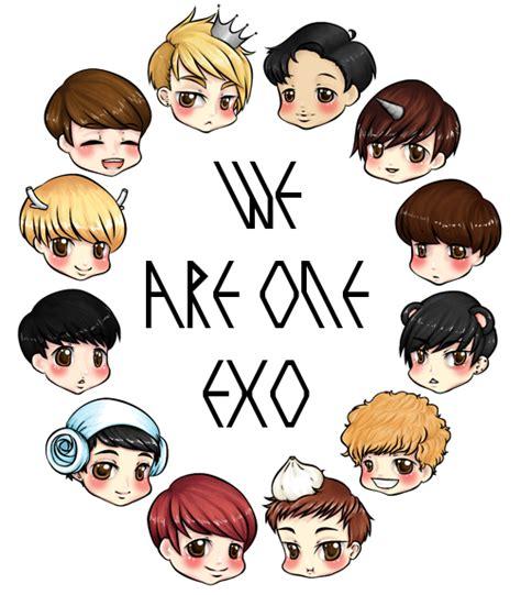 wallpaper exo cartoon exo the planet chibi cute exo