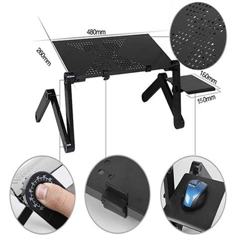 laptop lap desk with fan new 360 176 adjustable foldable laptop notebook desk table