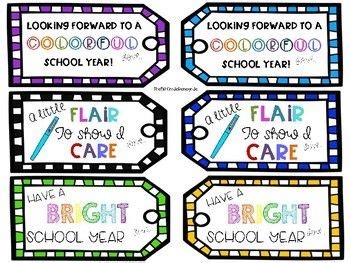 pencil pen gift tags printable back to school free gift tags for teachers back to school flair pens