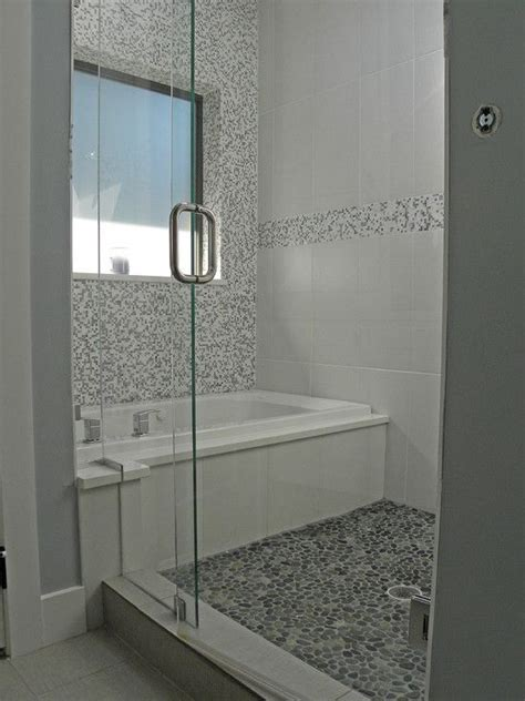 Bathtub In Shower by 40 Gray Shower Tile Ideas And Pictures