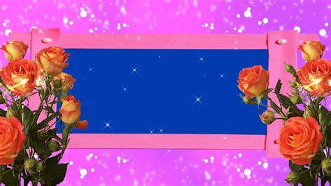 Wedding Background Frame by Roses Wedding Frame Free Blue Screen Background