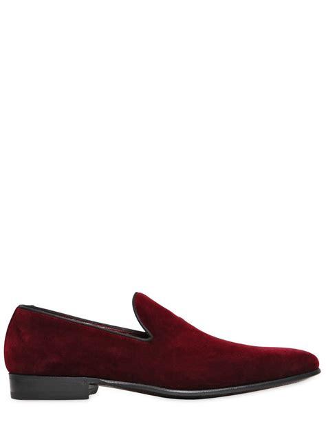 velvet loafers mens dolce gabbana venezia velvet loafers in for lyst