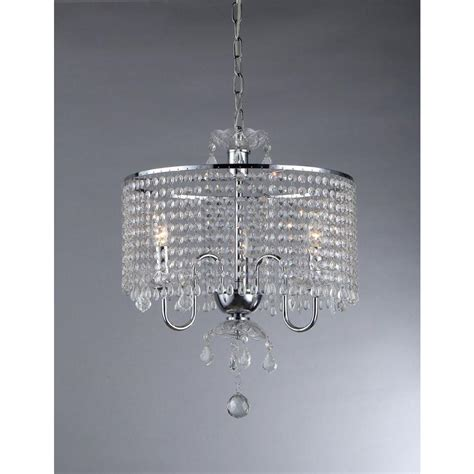 clea 3 light crystal chandelier tadpoles 5 light chrome and white crystal chandelier