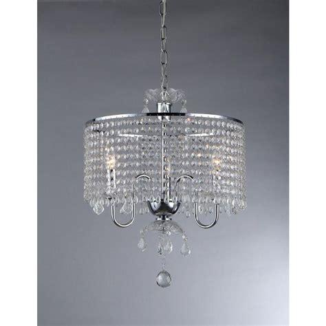 Warehouse Of Tiffany Elija 3 Light Chrome Crystal Chandelier Warehouse