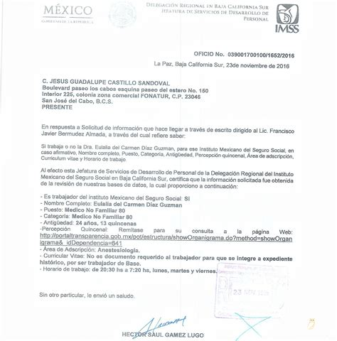 acuerdo canacar 2016 imss regidora eulalia del carmen d 237 az viola las leyes i