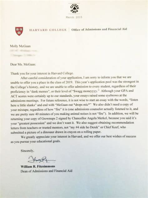 College Acceptance Letter Reaction 5 pranks that show why april fool s and college admissions season should not mix someecards