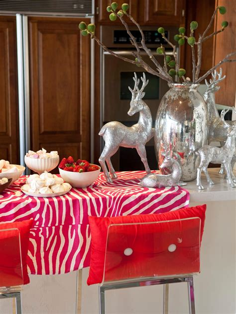 dec for christmashgtv metallic kitchen photos hgtv