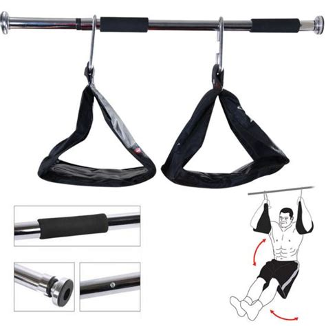 The Door Sling by Ab Sling Weight Lifting Abdominal Crunch Hanging Straps Door Bar Pull Chin Up Ebay