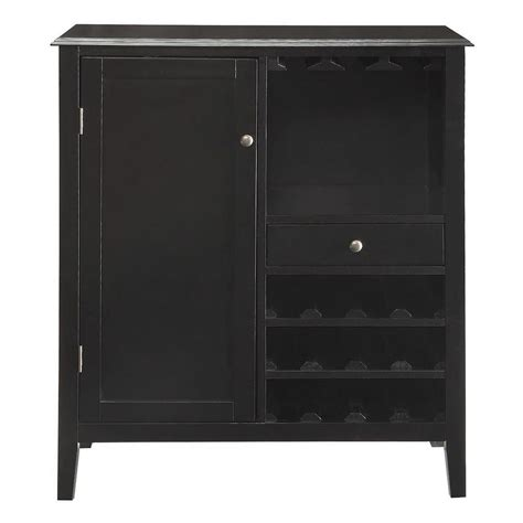 home depot bar cabinets kent 12 bottle black bar cabinet sk19135 the home depot