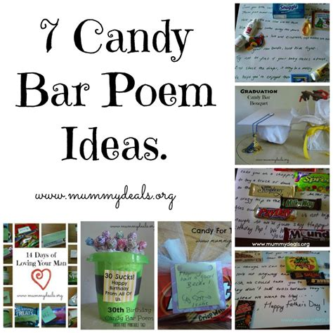 7 Of My Favorite Candybars by 7 Bar Poem Ideas