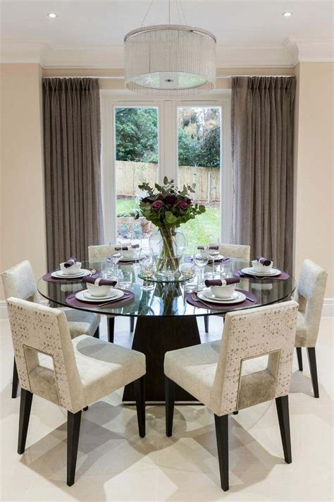 glass dining room tables create modern dining room with glass dining table