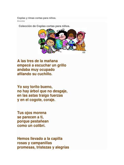 copla de la tuza coplas infantiles canciones para nios coplas y rimas cortas para ni 241 os