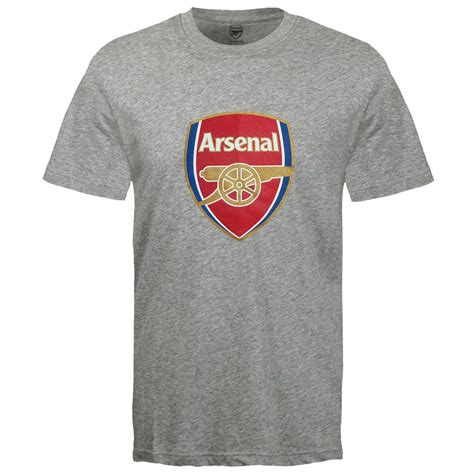 T Shirt Arsenal The Gunners arsenal football club official soccer gift mens crest t