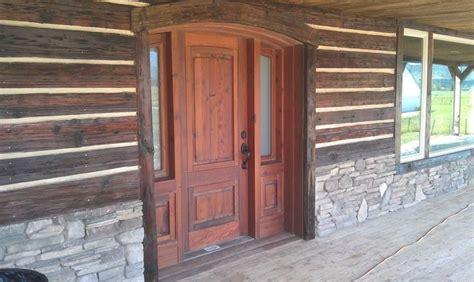 Log Cabin Interior Doors Rustic Exterior Siding Custom Exterior Door Assembly Chinking Exterior Log Siding Siding