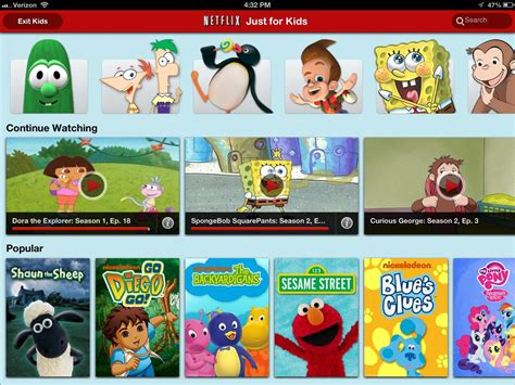 netflix adult section netflix just for kids now available on ipad imore