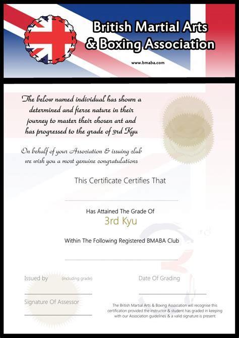 Martial arts certificate template martial arts award certificate blank martial arts grading certificates yelopaper Gallery