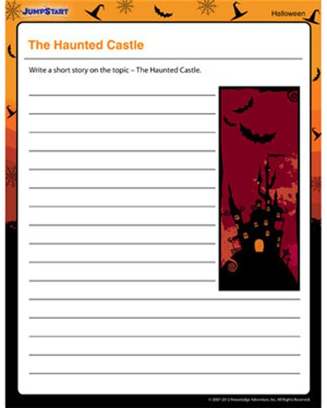 castle writing paper free creative writing worksheets for kindergarten
