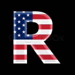 color graphics r us us 3d letter isolated on black background r stock