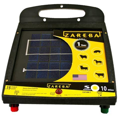 electric fence solar charger zareba esp10m z 10 mile solar fence charger zareba