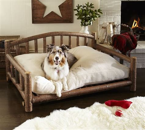 pottery barn dog bed log dog bed pottery barn