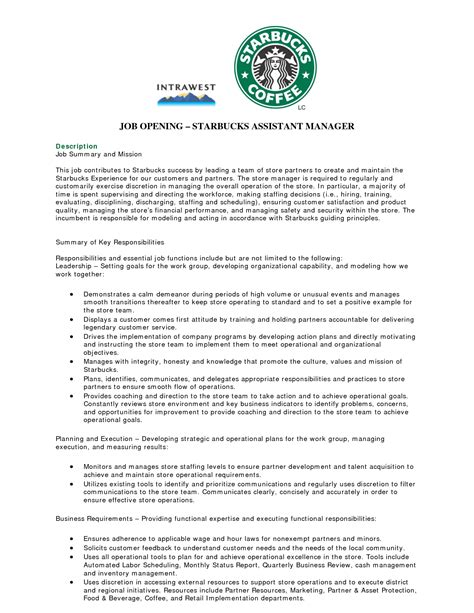 barista description resume berathen