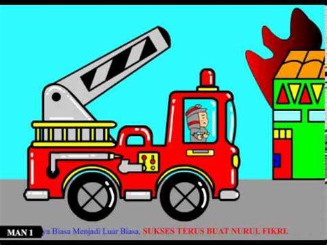 Pemadam Kebakaran Stop Mobil animasi pemadam kebakaran