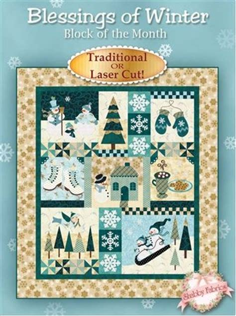 blessings of winter bom block of the month jennifer bosworth applique shabby fabrics
