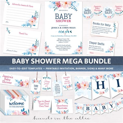 Shower Packages by Floral Baby Shower Package Diy Decor Printable