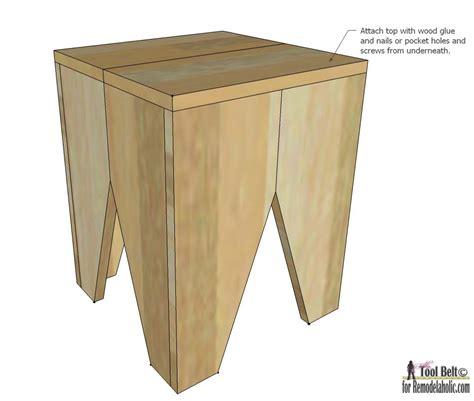 wood block bar stool diy modern wood block stools remodelaholic