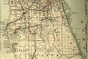 central florida map map of central florida 1890s