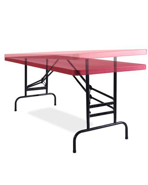 Adjustable Height Folding Table Adjustable Height Plastic Folding Table Bta