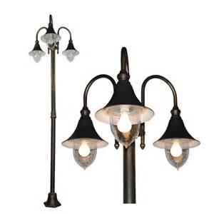 pole light fixtures outdoor pole light garden post lighting fixture new ebay