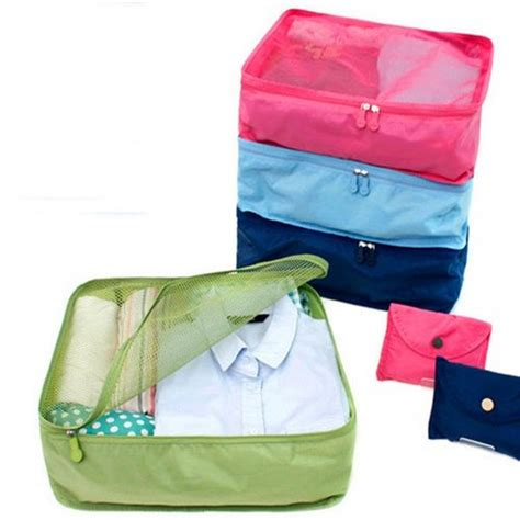 Pouch Travel Pouch Polyester Mesh Size L 1 foldable portable mesh cosmetics storage bags for clothes travel pouch luggage