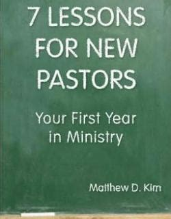 pastor your calling books 7 lessons for new pastors your year in ministry