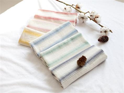 1050 Korean Set Cloth With Stripped And Ribbon stripe pattern washing cotton fabric by yard 6 colors selection from luckyshop0228 on etsy studio