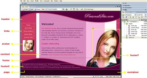 web design layout dreamweaver wooden storage sheds jacksonville fl building a website