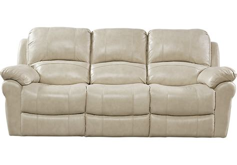 couch of power vercelli stone leather power reclining sofa reclining
