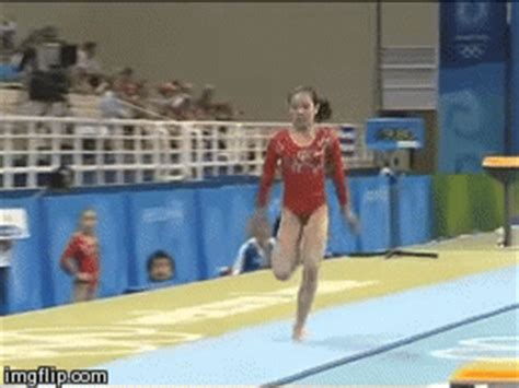 yurchenko double layout gym skills guide all of china s cheng fei s vault during