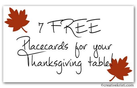 thanksgiving place card templates free free printable thanksgiving place card template