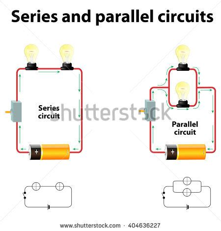 electric circuits with resistors in series and parallel measuring potential difference and current ohm stock photos images pictures