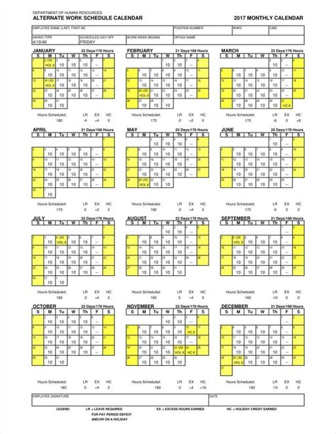 calendars that work template 9 employee calendar templates free sles exles